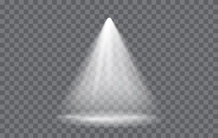 透明な背景を持つベクトル光効果スポット ライト
