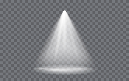 Vector Light Effect Spotlight with Transparent Background Vectores