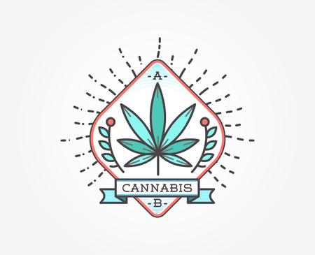 medical sign: Medical Cannabis Marijuana Sign or Label Template in Vector.