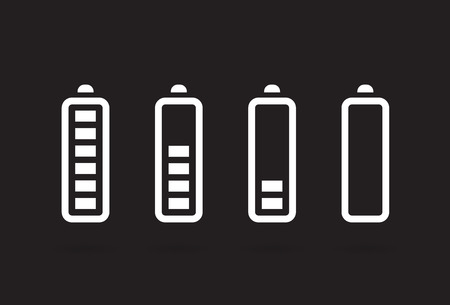 nimh: Vector Battery Accumulator Charge Icon or Symbol Set