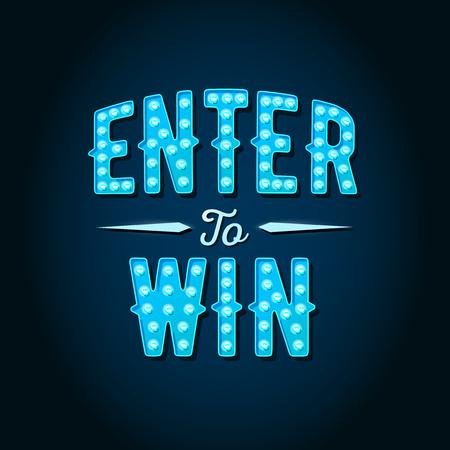 Geben Sie, um zu gewinnen Vektor-Zeichen, Win-Preis, Sieg in Lotterie