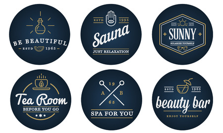 Set of Vector Spa Beauty Yoga Sport Elements Illustration can be used as  Icon in premium quality Illustration