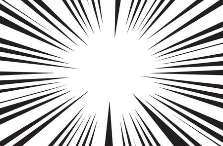 太陽光線漫画本ラジアルの背景ベクトル