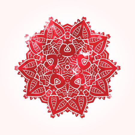 visionary: Ethnic Psychodelic Fractal Mandala Vector Meditation looks like Snowflake