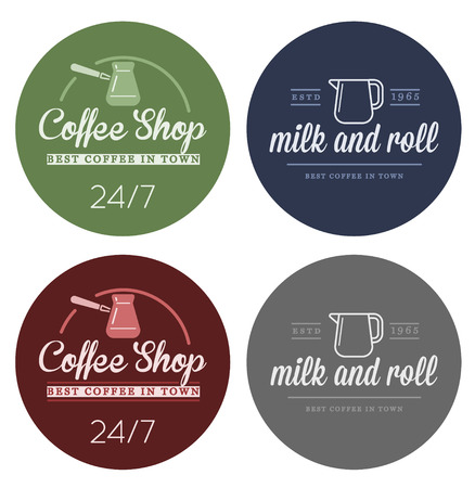 Set of Vector Coffee Elements and Coffee Accessories Illustration Illustration