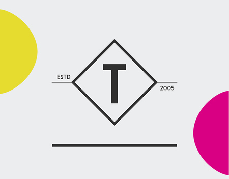 t square: Minimal Geometric Lined Template for Hipster Identity in Vector