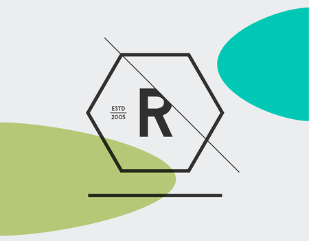 r fine: Minimal Geometric Lined Template for Hipster Identity in Vector