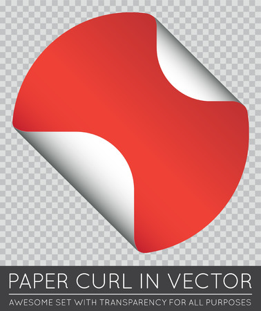 paper curl: Vector Sticker with Paper Curl with Shadow Isolated.