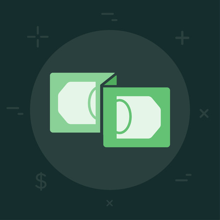 Vector Business or Finance Category Flat Minimal Style Colorful Icon