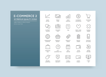 ecommerce icons: Set of Vector E-Commerce Icons Shopping and Online Illustration