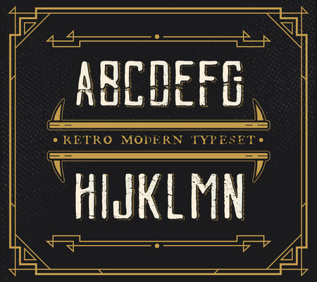 handcrafted: Vintage Retro Font. Handcrafted Decoration Font.