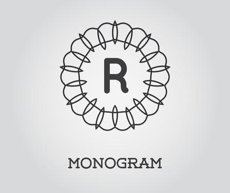 Monogram Design Template with Letter Vector Illustration Premium Elegant Quality