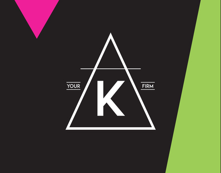 Minimal Geometric Lined Template for Hipster Identity in Vector Vektorové ilustrace