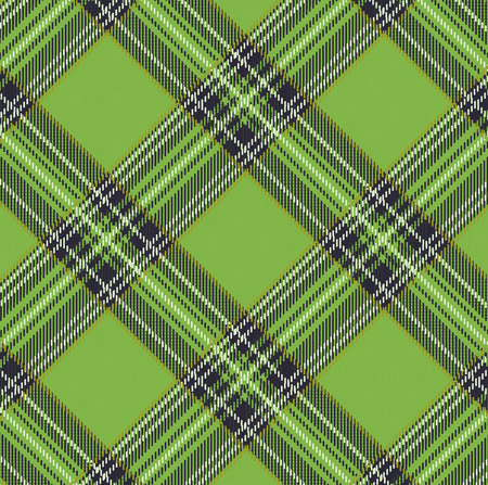 Tartan Plaid Vector Pattern Background with Fabric Texture
