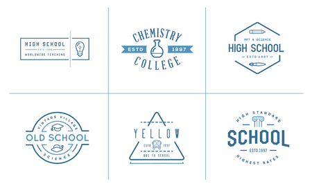 be the identity: Set of Vector School or College Identity Elements can be used as Logo or Icon in premium quality
