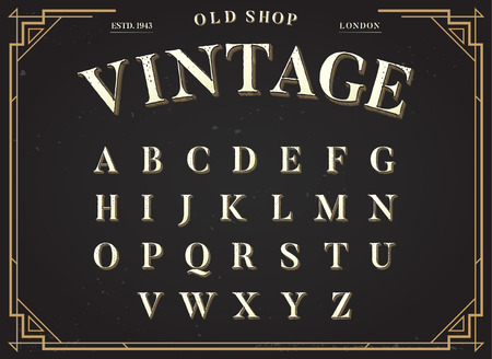 alphabetical order: Alphabet Vector Font. All Letters Set with Classy Stylish Background Illustration