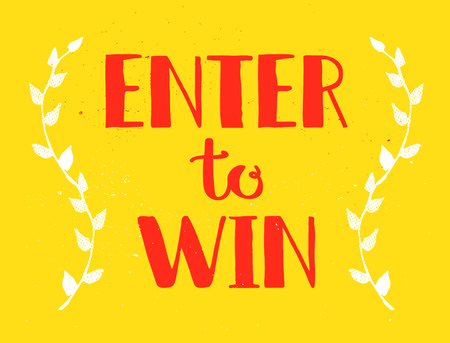Enter to Win Vector Sign Illustration