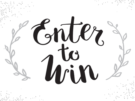 enter: Enter to Win Vector Sign, Win Prize, Win in Lottery Illustration