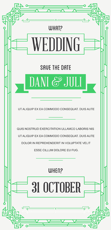 epoch: Great Quality Style Invitation in Art Deco or Nouveau Epoch 1920s Gangster Era Style Vector