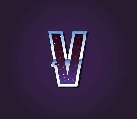 80s: Universe 80s Retro Sci-Fi Font Alphabet Vector