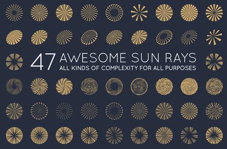 Ensemble de Sunburst Vector Rays de Sun