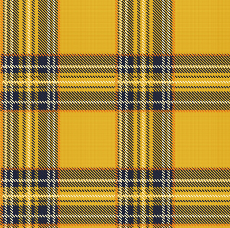 Seamless Tartan Plaid Vector Pattern Background with Fabric Texture Illustration