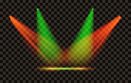 Vector Light Effect Spotlight with Transparent Background Vettoriali