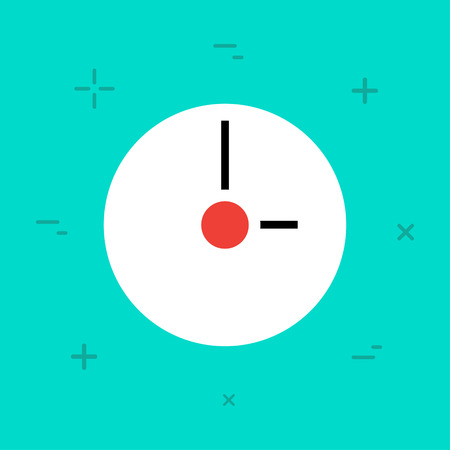 hour hand: Vector Flat Minimal Style Colorful Icon Illustration