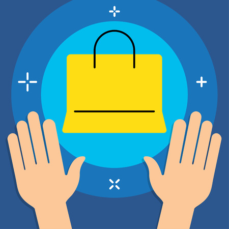 minimal style: Vector Business or Shopping Category Flat Minimal Style Colorful Icon Illustration
