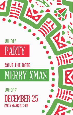 vector vector happy new year or merry christmas theme save the date invitation to the party