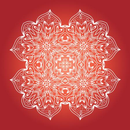 Ethnic Fractal Meditation Mandala Vector