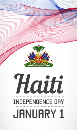 blending: National Day Vertical Banner of the Country in Blending Lines Style Vector with Date