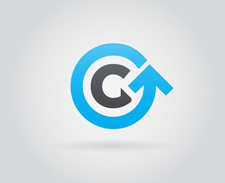 Logo Icon Design Template Element in Vector Letter Vettoriali