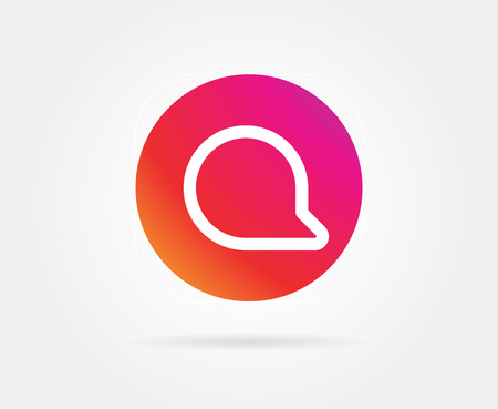 App Icon Template. Vector Gradient Fresh Color Illustration