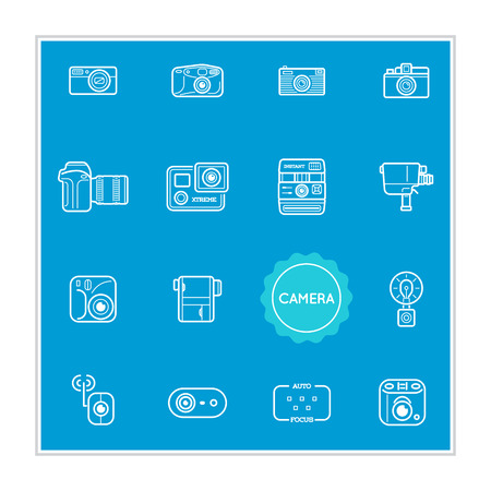 Set of Camera Photo Vector Illustration Elements can be used as  Icon in premium quality