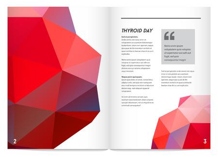 secretion: World Thyroid Day. Thyroid Solidarity Day. Vector Illustration.