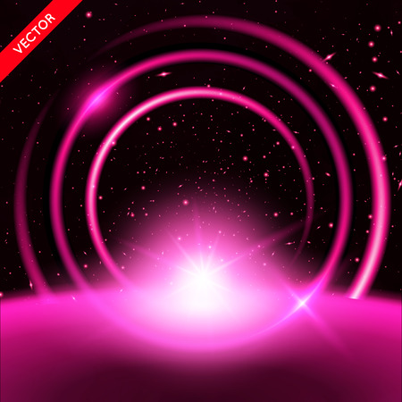 Vector Abstract Background with Luminous Swirling Backdrop. Energy Flow.