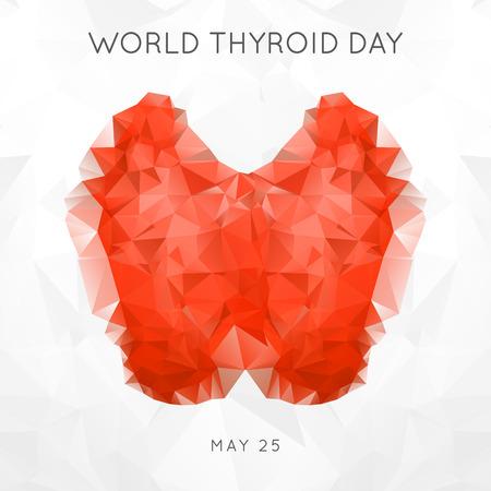 世界甲状腺の日。甲状腺の連帯の日。ベクトルの図。