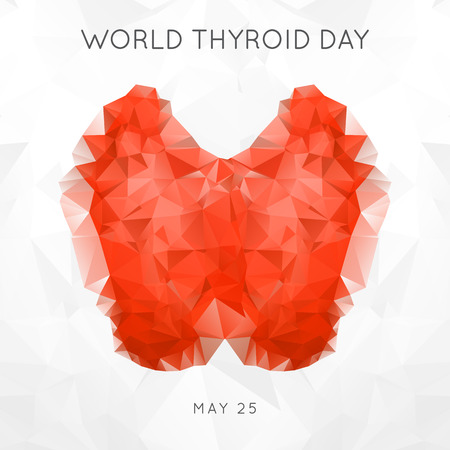 World Thyroid Day. Thyroid Solidarity Day. Vector Illustration.