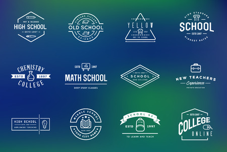 be the identity: Set of Vector School or College Identity Elements can be used as Icon in premium quality Illustration