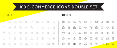 Set of Vector E-Commerce Icons Shopping and Online can be used as  Icon in premium quality