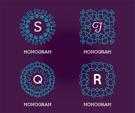 Set of Monogram Design Template. Letter Vector Illustration Premium Elegant Quality. Collection Pack.