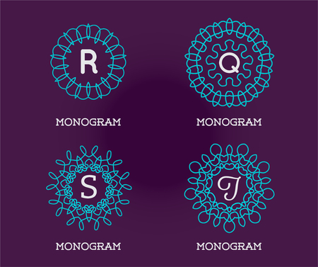 Set of Monogram Design Template. Letter Vector Illustration Premium Elegant Quality. Collection Pack.