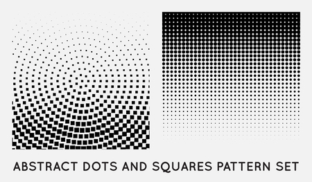 flecks: Set of Halftone Element, Monochrome Abstract Graphic. Ready for DTP, Prepress or Generic Concepts.