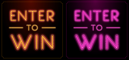 wagers: Enter to Win Vector Sign Set