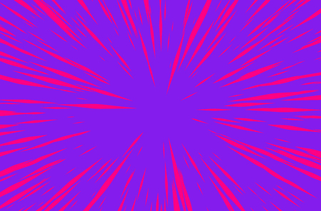 Purple Sun Rays or Explosion Boom for Comic Books Radial Background Vector Illustration