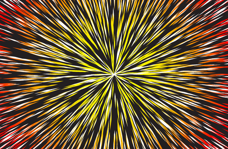 Hyper Speed Warp Sun Rays or Explosion Boom for Comic Books Radial Background Vector Illustration