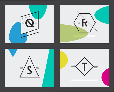 Set of Minimal Geometric Lined Template for Hipster Identity.