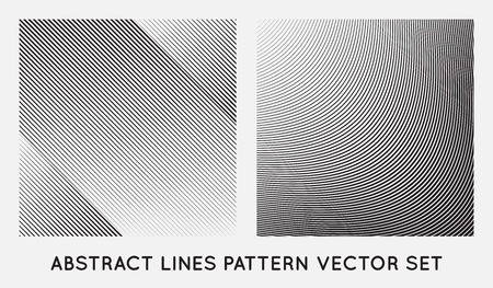 Set of Diagonal Oblique Edgy Lines Pattern in Vector Illustration