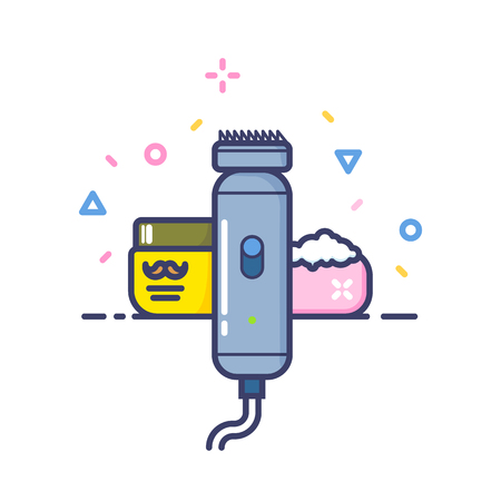 Barber Shop. Stylish Lined Vector Art. High Quality. Icon. Logotype.
